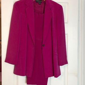 2 Piece Belted Jacket & Pant Suit